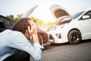 Getting into an accident with someone else's car